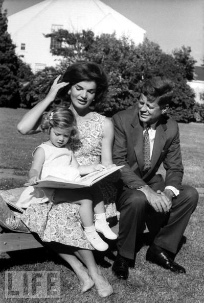 Jackie and JFK with Caroline