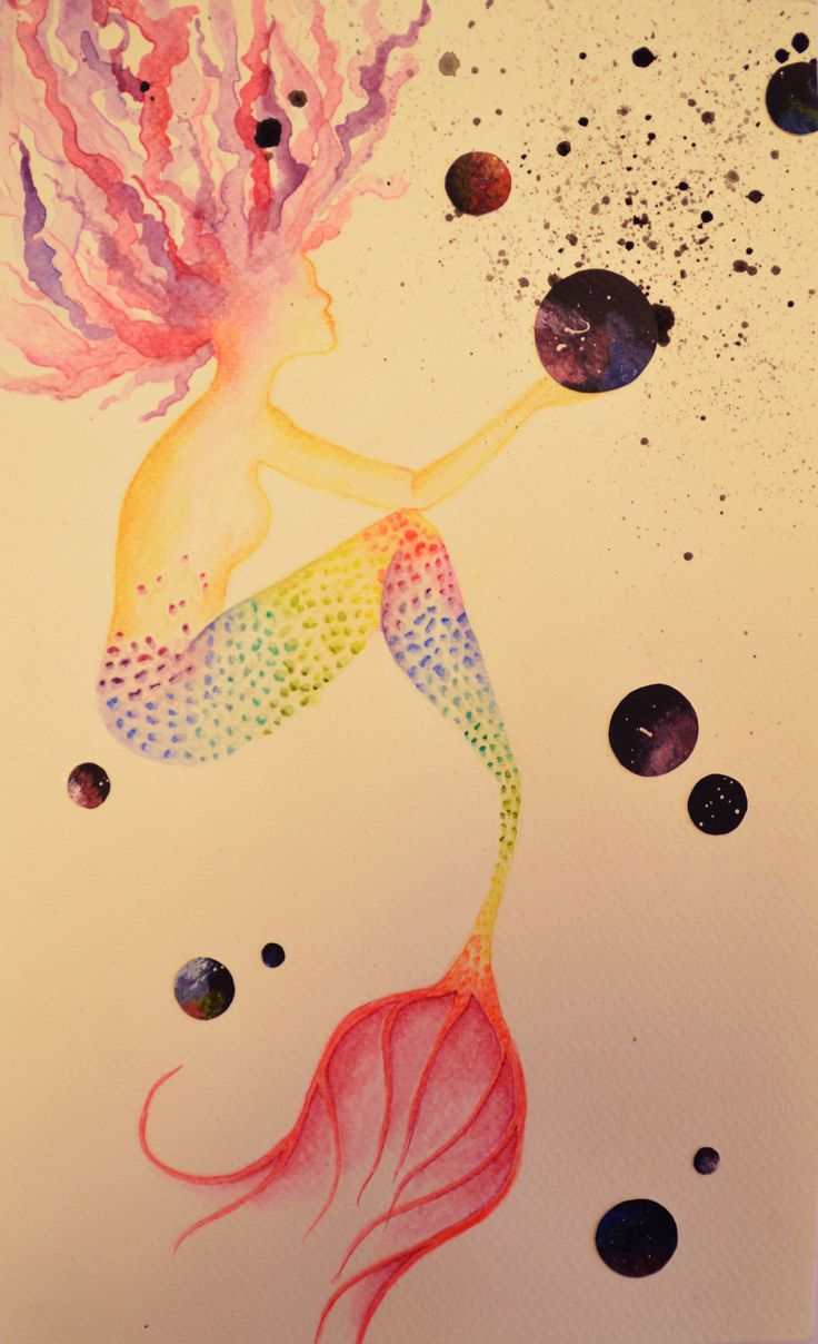 #9 Mermaid watercolors