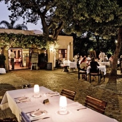 Located on Kleine Zalze, set under historic oak trees, SA's top 10 restaurant Terroir is the perfect refined and relaxed environment to enjoy a fine meal matched to excellent wines.    Terroir at Kleine Zalze is a Gourmet Nominee in the Klink awards