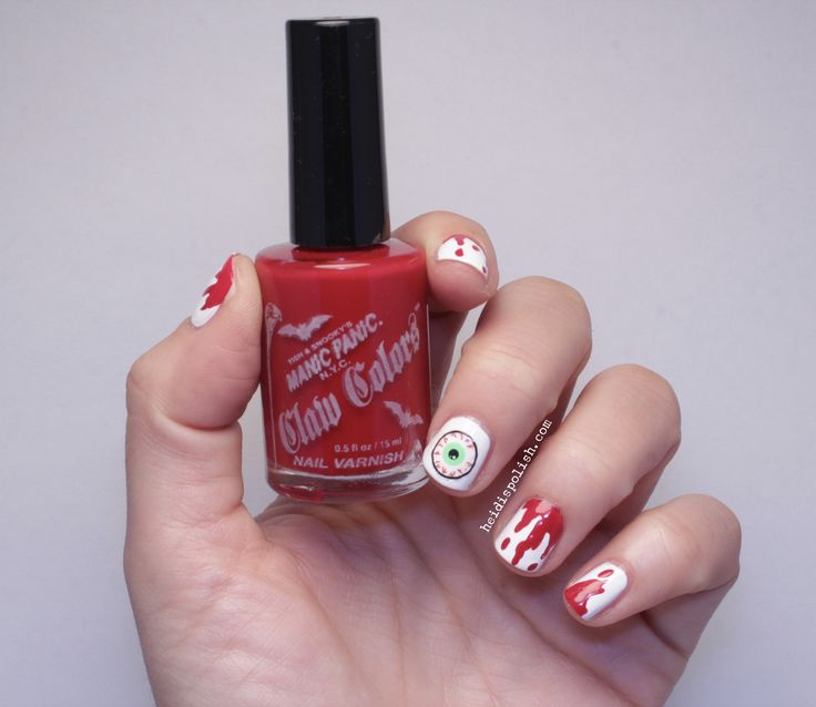 Bloody Nails with Claw Colors my Manic Panic - www.heidispolish.com ...