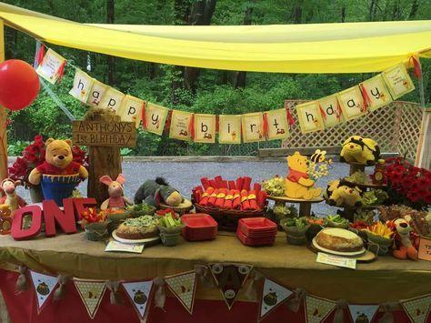 Winnie Poh Les tengo estas hermosas propuestas de fiesta temática de Winnie Pooh, espero les ayude a inspirarse y crear una fiesta para sus pequeños con estilo original y único.