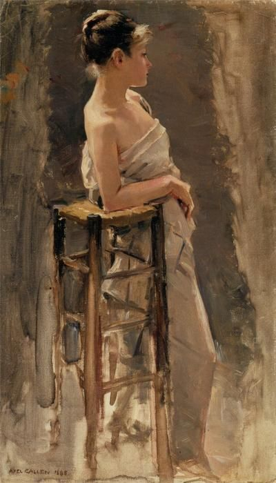 le modèle, 1885 de Akseli Gallen Kallela (1865-1931, Finland)