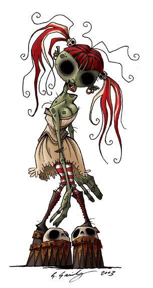 zombie girl, gris grimly