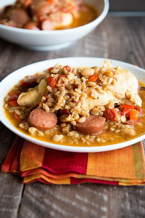 Bohneneintopf mit Hühnchen und Würstchen | 23 einfache Abendessen, die Du nach der Arbeit kochen kannst