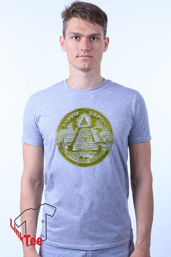 Cult All Seeing Eye Dollar Illuminati Triangle Symbol by LinkTee