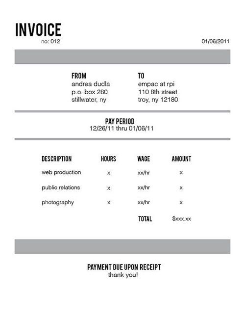 7 best Invoices images on Pinterest Invoice design, Form design - how to type an invoice
