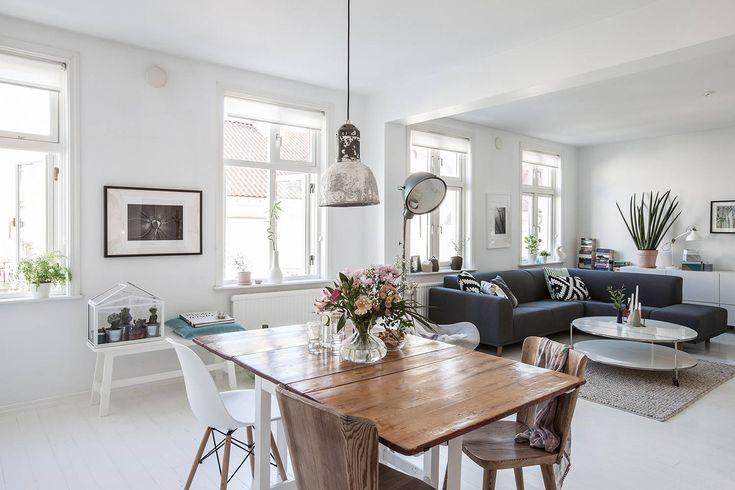 We nemen een kijkje in een typisch Scandinavisch huis van gemiddelde grootte…