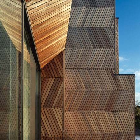 Herringbone House, Alison Brooks Architects. #texture #timber