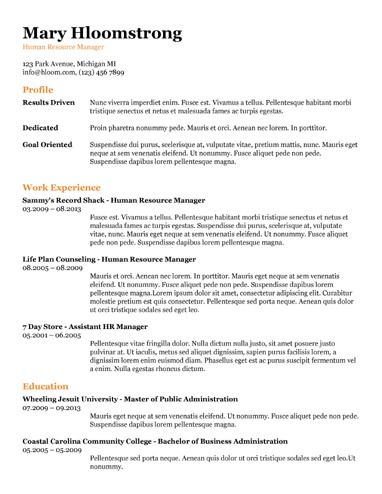 461 best Resume Templates and Samples images on Pinterest Free - resume doc template