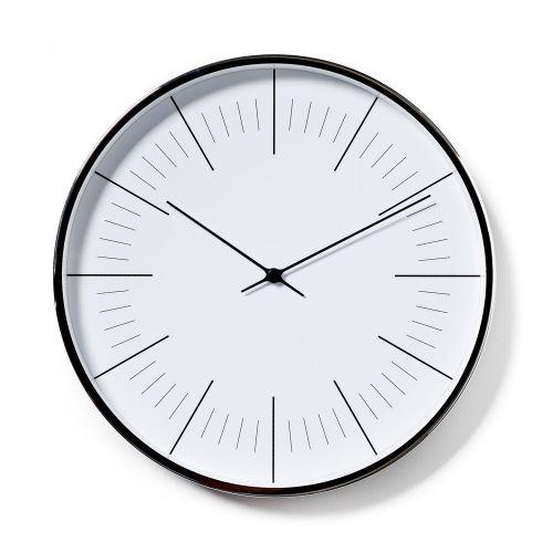 Silver 30cm Metal Clock