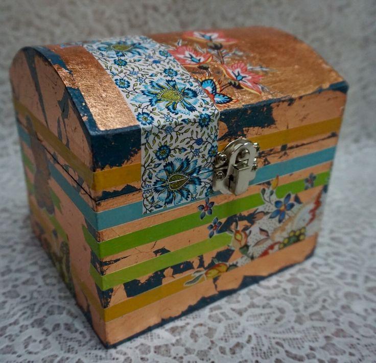 Decorated Box, Decoupage, Dekupaz, Gold Gilding