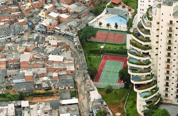 Fotografias mostram mazelas da urbanização em países com grandes índices de desigualdade social e econômica.