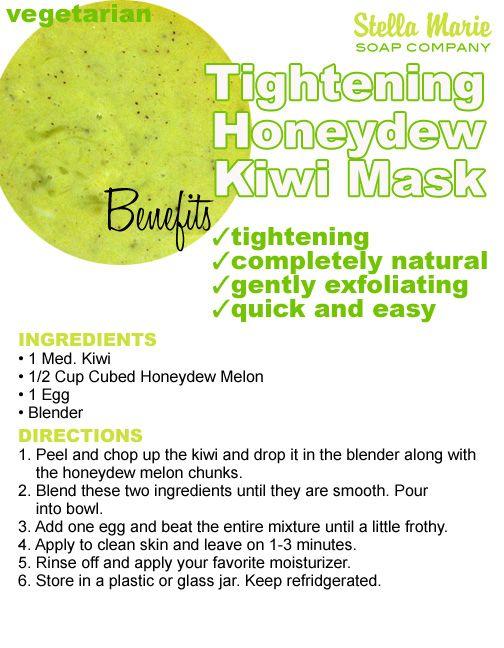 Tightening Honeydew Melon, Kiwi and Egg Mask