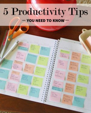 Need to Know Productivity Tips.
