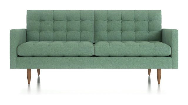 Petrie Leather 76 Apartment Sofa Crate And Barrel Sofas And