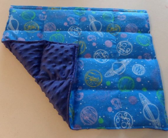 Weighted Lap Pad Planets Galaxy Sensory Deep Pressure Poly