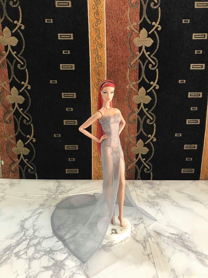 NEW dress gauze for  Fashion royalty nuface barbie silkstone by t.d.fashion
