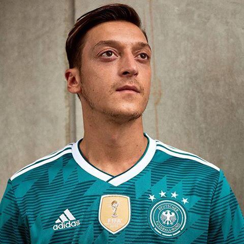 7a2297f59 Mesut Özil models Germany s 2018 World Cup away kit  Adidas  Germany   DieMannschaft  dfb  DFBTeam  WorldCup  YaGunnersYa