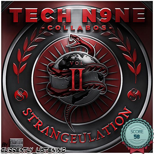 Tech N9Ne - Strangeulation Volume 2 (2015)  #music #album #note #score #techn9ne #strangeulation #strangemusic #rap #hiphop #rapmusic #rapmusik #techn9necollabos #techn9nelove #krizzkaliko #cescru
