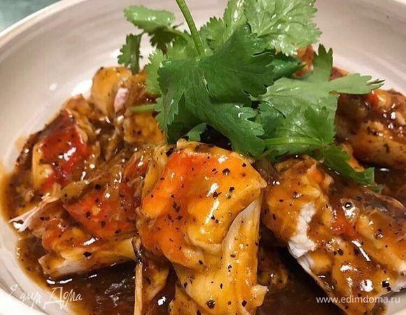 Креветки с соусом из личи  Пикантное блюдо кантонской кухни, которое является частым гостем на праздничных и банкетных столах. Приготовьте креветки в соусе из личи, и этим блюдом вы точно сможете удивить своих близких. #едимдома #рецепт #готовимдома #кулинария #домашняяеда #креветки #морепродукты #личи