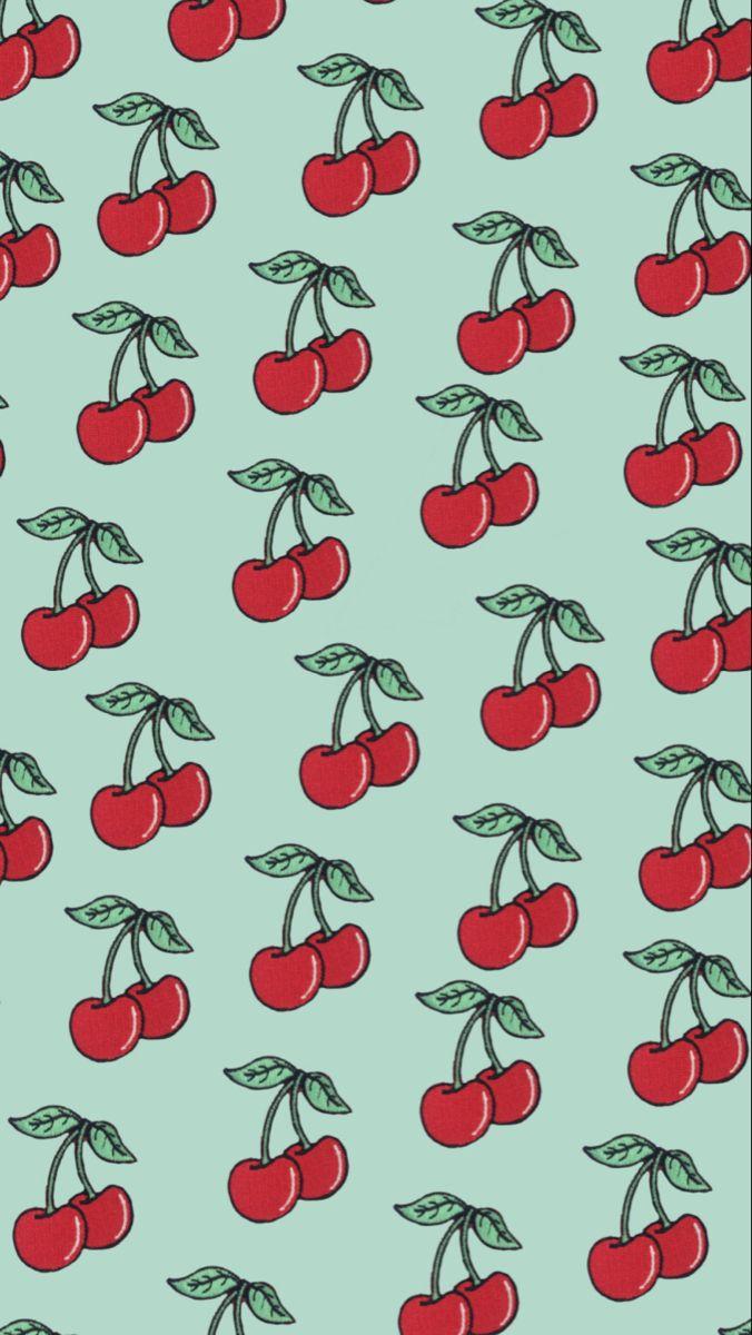 Cherry Wallpaper Cherry Aesthetic Green Aesthetic Red Aesthetic Cartoon Wallpaper