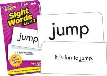 Sight Words - Level 2 by MotivationUSA. $10.25. * Continue to build growing learners' reading skills with sight words from Dolch and Fry Instant Words Lists. Cards are sturdy, durable, and feature rounded corners for quick sorting. 96 cards.. Save 40% Off!