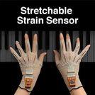 Stretchable Strain Sensor ヤマハ(株)は、ゴムのように伸縮する変位センサーを開発しました。センサーをテキスタイルに装着して人が着用することで人の動きをリアルタイムにモニタリングします。非常に薄くて軽く体のどこにでも装着できるウェアラブルセンサー。指一本一本の動きや筋肉の動きなど、これまでは計測が難しかった細かな動作も正確にモニタリン