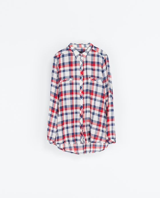 Image 5 of CHECKED BLOUSE from Zara