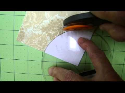 Great YouTube tutorial on Sewing Curves,  Drunkards Path Quilt pattern