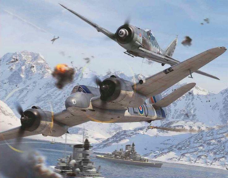 Bristol Beaufighter Mk X vs Focke Wulf Fw 190A-8 by Adam Tooby