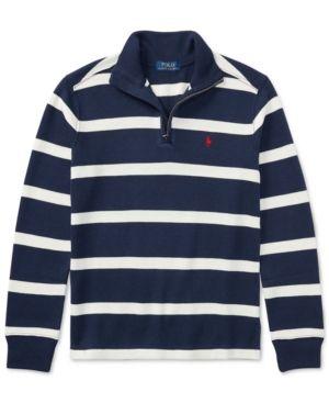 Ralph Lauren Striped Half-Zip Sweater, Big Boys (8-20) -