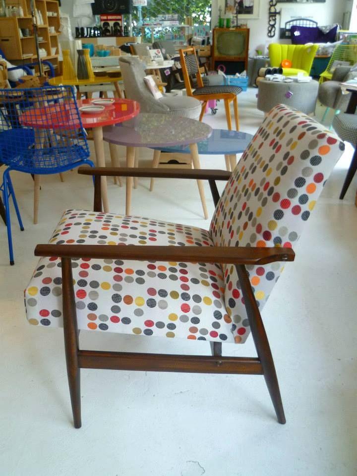 popularny fotel z lat 70, projekt H. Lis