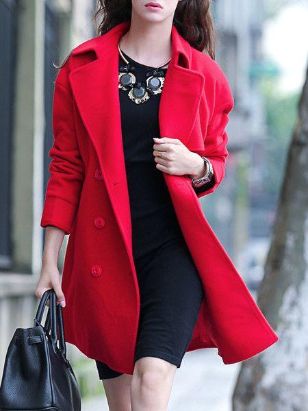 Red Bow Wool Long coat.jpg