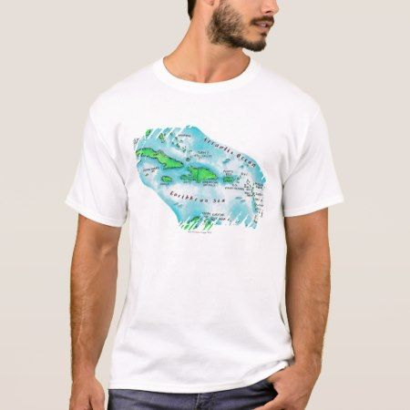 Map of Caribbean Islands T-Shirt - tap, personalize, buy right now!