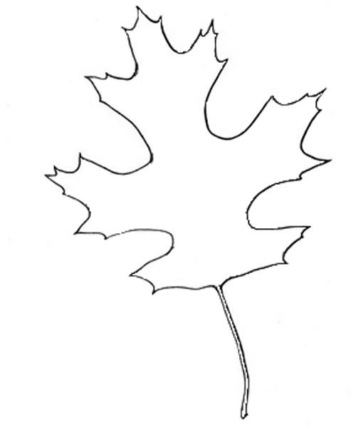 leaf cut out template index of
