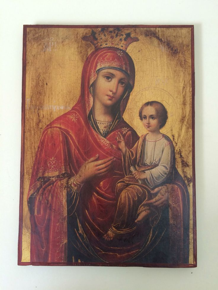 A personal favourite from my Etsy shop https://www.etsy.com/listing/480748160/our-lady-theotokos-byzantine-icon