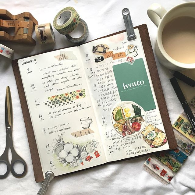 Traveler's notebook 手帳+水彩 我現在變成很隨性的跳躍式補手帳 1月時的台中一日之旅,特地到明亮又氣質的ivette用餐,它的酪梨搭配酸麵包好好吃喔  #travelersnotebook#illustrator#artwork#article#illustration#art#paint#painting#draw#drawing#midori#雪莉畫日誌#日記#手帳#水彩#文房具#watercolor#sketch#ivettecafe#taiwan#taichung#cafe#coffee#brunch#breakfast