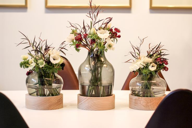 Republic of Fritz Hansen - San Francisco store. Make the most beautiful flower settings with Jaime Hayons vases from the Objects line