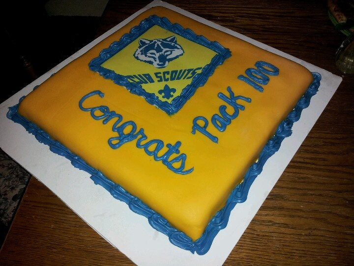 Boy Scout Blue And Gold Cake Ideas