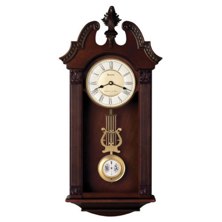 Ridgedale Wall Clock by Bulova - 13 Inches Wide - C4437
