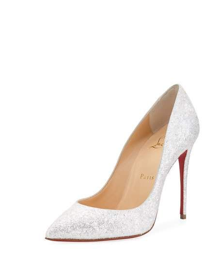 de4c3ca398c1 Pigalle Follies 100mm Glitter Red Sole Pumps by Christian Louboutin at  Neiman Marcus