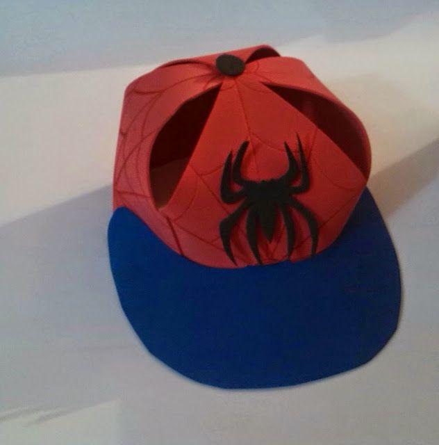 Manualidades TiendasOff: Gorras en Foami Hombre Araña
