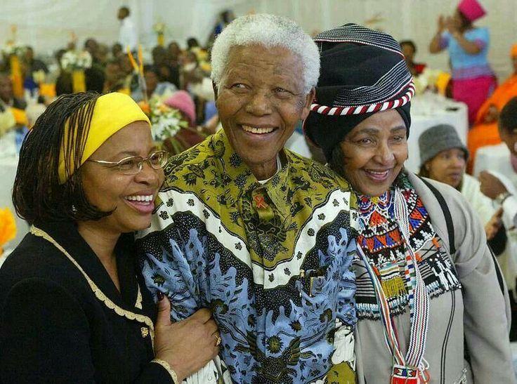 For the love of a good man...Graca, Tata and Winnie. ..#Mandela