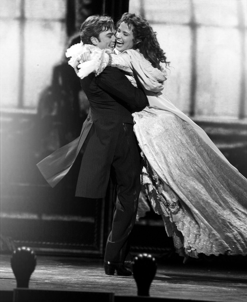 Sierra Boggess and Hadley Fraser in the Phantom of the Opera at the Royal Albert Hall