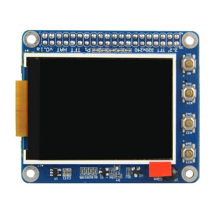 High PPI 2.2 inch TFT Display Shield for Raspberry Pi 2B/B+/A+ With 6 Keyboards and Remote IR. Features: - Demensions: 65mm x 56.5mm, it's a standard raspberry pi HAT expansion size; - Resolution: 320 x 240, 2.2 inch, High PPI display screen; - With 6 keyboards; - With IR function; - Support official Raspberry pi case (sku.397320);. Tags: #Electrical #Tools #Arduino #SCM #Supplies #Raspberry #Pi
