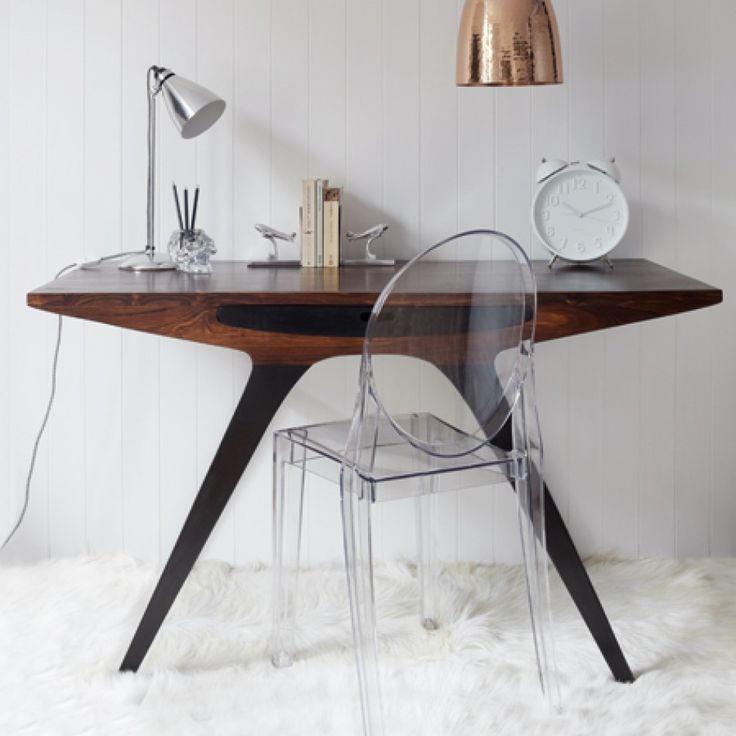 Attractive Mid Century Modern Desk Home Office Decor Small Room Decorating Ideas
