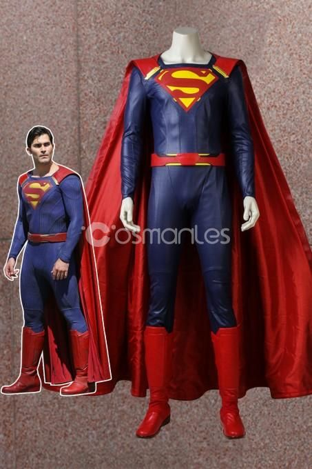 Supergirl Season 2 Superman Clark Kent Cosplay Costume With Boots