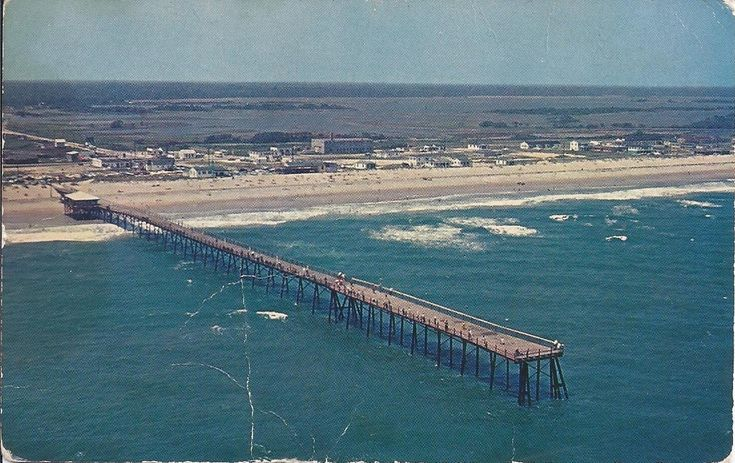 On the back of this post card read surf city fishing for Topsail island fishing