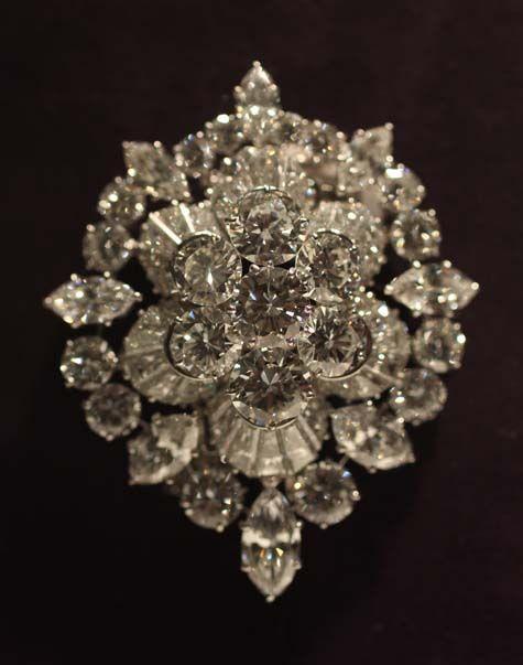The Burton Diamond Brooch, by Van Cleef Arpels. Elizabeth Taylor. $1,142,500.
