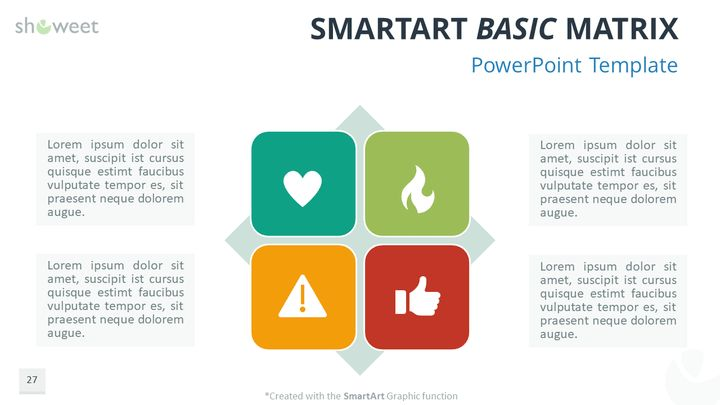 Free Powerpoint Smartart Basic Matrix  Charts  Diagrams For